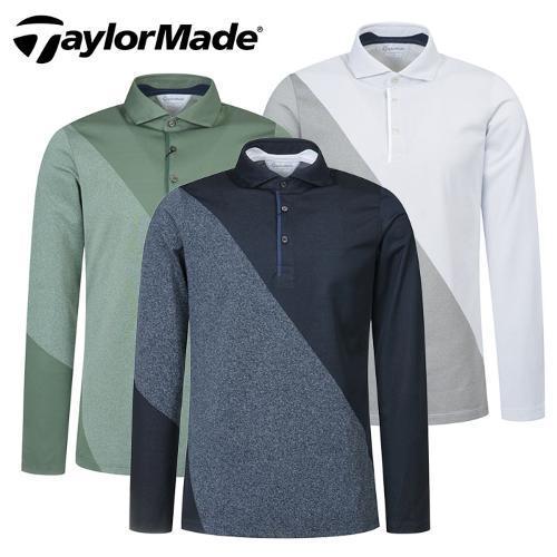 [테일러메이드] 사선배색 쟈가드 LS 남성 긴팔티셔츠