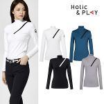 홀릭앤플레이 여성 스판 사선 긴팔티셔츠 HA3WTS001R