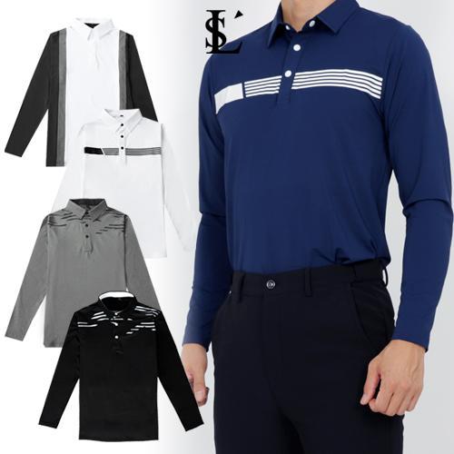 [루센] 가을신상 남성 기능성 골프 카라 긴팔티셔츠 균일가 3종 택일
