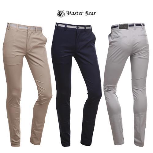 [마스터베어] 슬림핏 골프 면팬츠 3색 택일