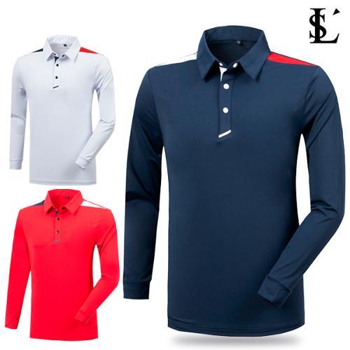 [루센] 라운딩 골프 배색티셔츠 특가