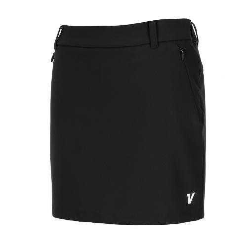[볼빅골프웨어] 여성 골프 베이직 H라인 큐롯 스커트 VLCUL991_BK