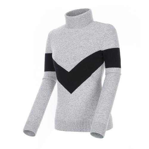[볼빅골프웨어] 여성 골프 캐시미어 터틀넥 스웨터 VLKTL975_MG