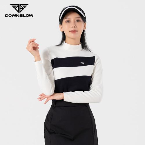 다운블로우 여성 방한 스판 반폴라 티셔츠 FWLB-2200W