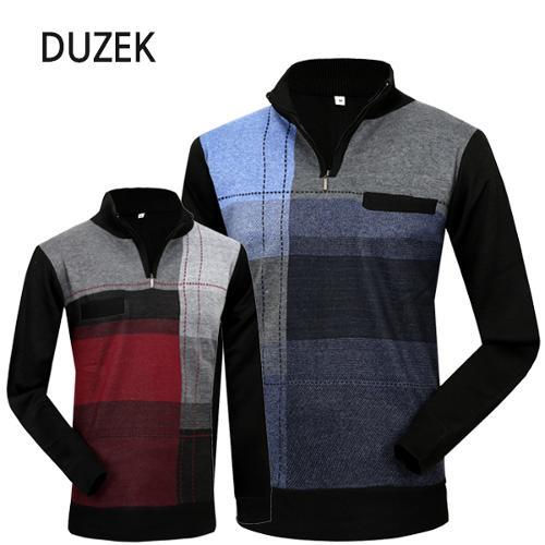 [DUZEK] 듀젝 베이직 니트 반집업 긴팔티셔츠 Model No_CB0497