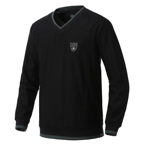 애플라인드 공용 바람막이 V넥 티셔츠 AEWUTS01/BK