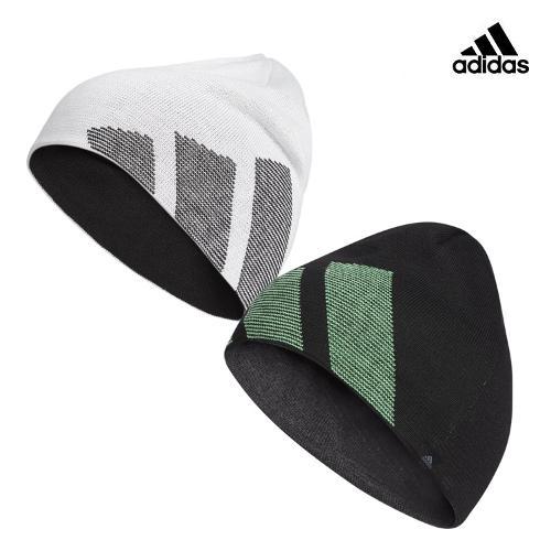 아디다스골프 남성 3선 로고 양면 비니 모자 GU8617 GU8618