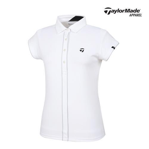 [테일러메이드]여성 파이핑 배색 카라 반팔티셔츠 TWTYJ6914-100