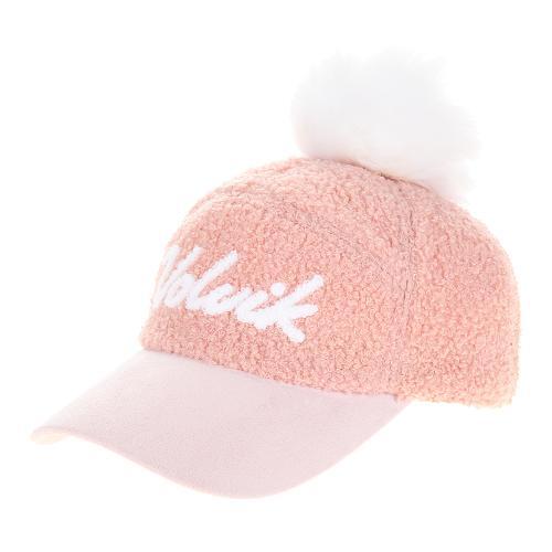 [볼빅골프웨어] 여성 골프 방울 퍼 양털 캡 모자 VLAPKA01_LP