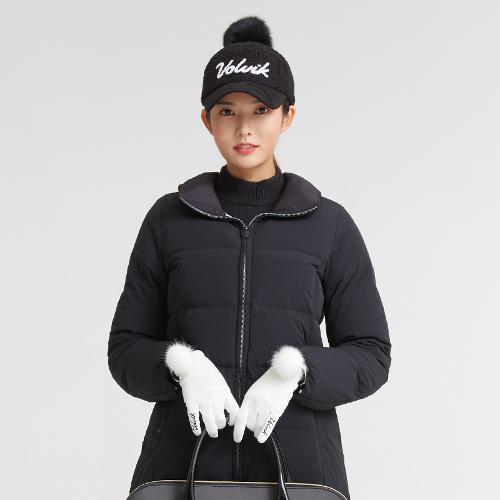 [볼빅골프웨어] 여성 골프 베이직 구스다운 롱 점퍼 VLDWKA05_BK
