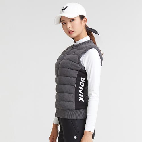 [볼빅골프웨어] 여성 골프 로고 방풍 패딩 베스트 VLKVKA01_MG