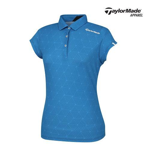 [테일러메이드]여성 삼각 패턴 카라 반팔티셔츠 TWTYJ6917-905