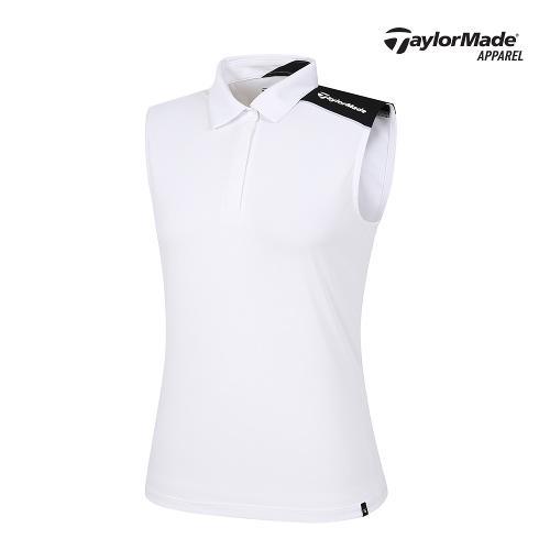 [테일러메이드]여성 어깨 카라 민소매티셔츠 TWTYJ6918-100