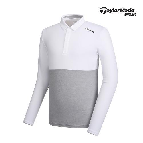 [테일러메이드]남성 투톤 배색 카라 티셔츠 TMTYK1904-100