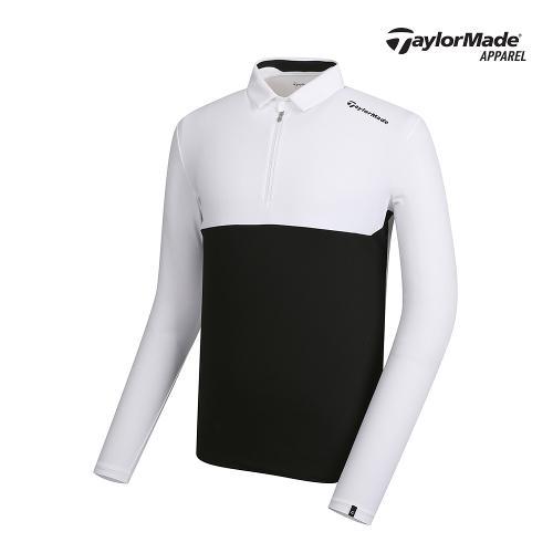 [테일러메이드]남성 컬러블록 카라 반집업 티셔츠 TMTYJ1902-100