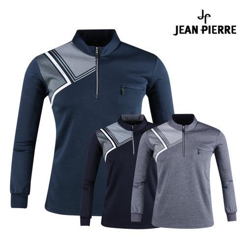 잔피엘 남성 클래식 반집업 골프셔츠 JP1A424