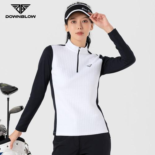다운블로우 여성 방한 스판 엠보 티셔츠 FWLW-2300W