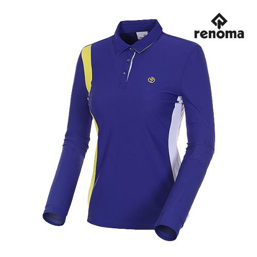 [레노마골프]여성 져지 컬러 블록 카라 티셔츠 RWTYH5111-907_G