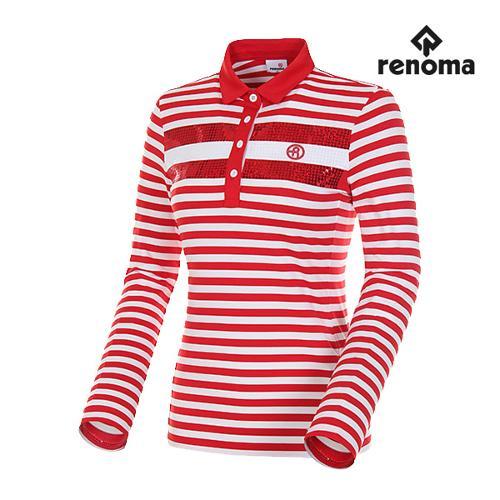 [레노마골프]여성 패턴 플라워 포인트 티셔츠 RWTPH5104-500_G