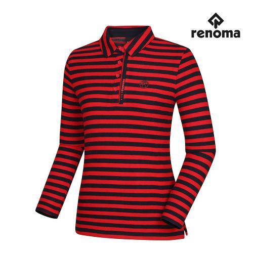 [레노마골프]여성 스트라이프 카라 티셔츠 RWTYH8105-500