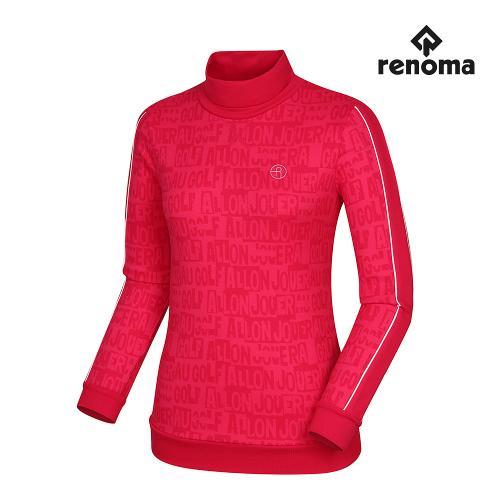 [레노마골프]여성 로고 자가드 하이넥 티셔츠 RWTHH8107-403
