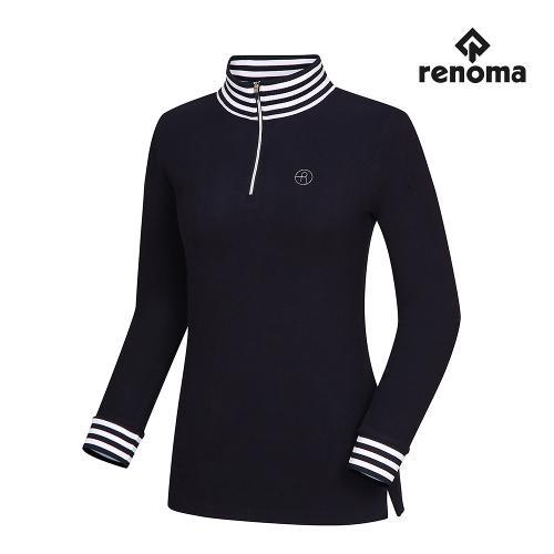 [레노마골프]여성 스트라이프 포인트 반집업 티셔츠 RWTHH8103-915