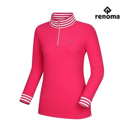 [레노마골프]여성 스트라이프 포인트 반집업 티셔츠 RWTHH8103-403