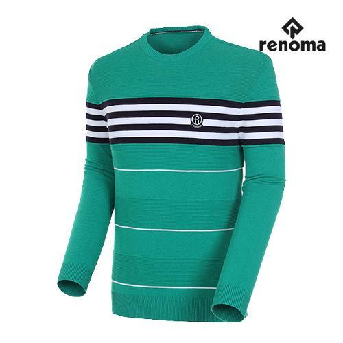 [레노마골프]남성 배색 라운드넥 풀오버 스웨터 RMSRH1205-804_G
