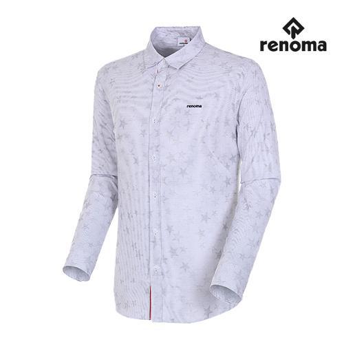 [레노마골프]남성 스타 자카드 스트레치 셔츠 RMBSH1602-100_G