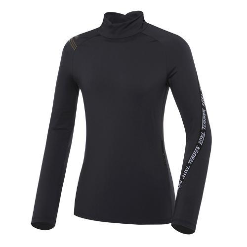 [와이드앵글] 여성 ET 뒷목 변형 하이넥 긴팔 티셔츠 L WWU21206Z1