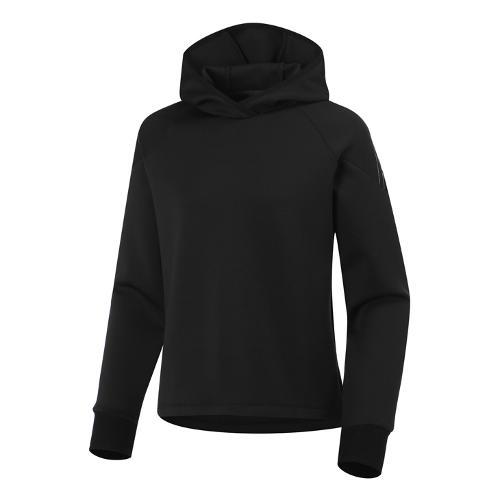 [와이드앵글] 여성 ET 등판 로고포인트 후드 긴팔 티셔츠 L WWU21211Z1