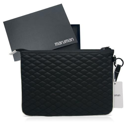 마루망 정품 2022년 프로젝션 퀼팅 클러치백[블랙]