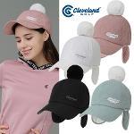 [클리브랜드골프] FUR방울 마름모퀼팅 귀덮개 여성 골프모자/골프용품_CGKWCP1901