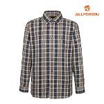 [올포유]남성 면 혼방 체크 셔츠 AMBSH4654-505_G