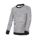 [볼빅골프웨어] 남성 골프 LAB 전판 V패턴 라운드 티셔츠 VMTSL974_OW