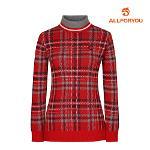 [올포유]여성 체크 하이넥 스웨터 AWSHI8201-500_G