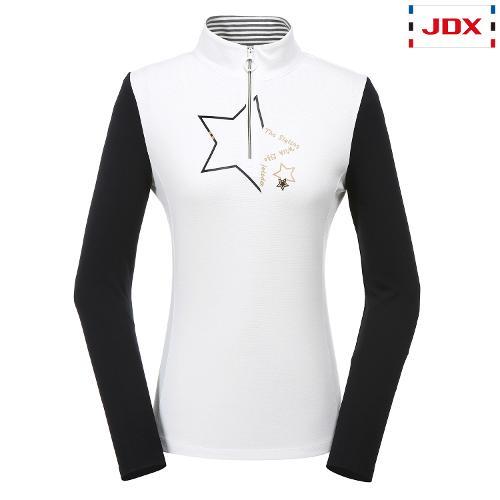 JDX 여성 모티브프린트 소매배색 반집업 X2QWTLW95OW