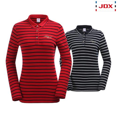 JDX 여성 2도 스트라이프 카라티 2종 택1 X2QWTLW94