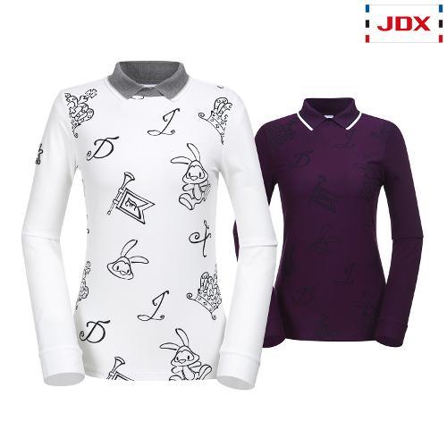 JDX 여성 사선 양기모 카라티셔츠 2종 택1 X2QWTLW58