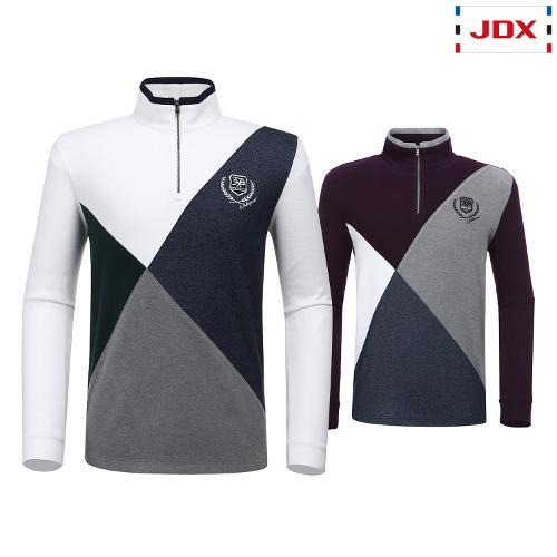 JDX 남성 컬러 콤비 반집업 티셔츠 2종 택1 X2QWTLM01