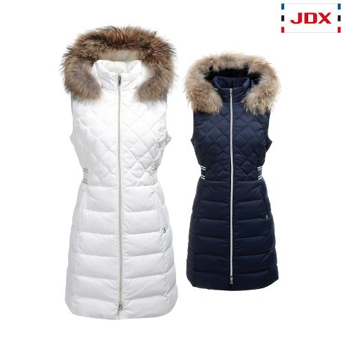 JDX 여성 퀼팅 중기장 다운조끼 2종 택1 X1QWWVW53