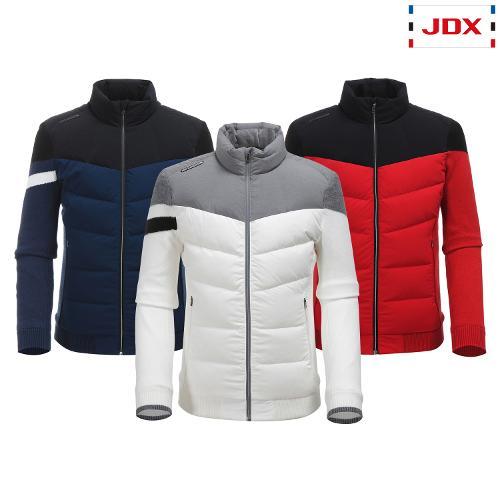 JDX 남성 소매니트 블럭 다운 점퍼 3종 택1 X1QWWDM03