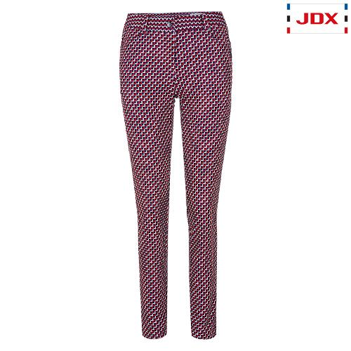 JDX 여성 전판 프린트 오비 니트 팬츠 X1QWPTW51RE