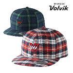 볼빅 체크 스냅백 남성 겨울 골프모자 VAGFCP0405