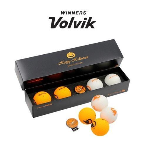 볼빅 비비드 3피스 골프공 4구+볼마커(할로윈 패키지)